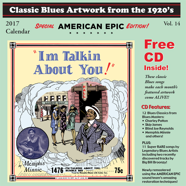 last years 2017 calendar free cd at a reduced price