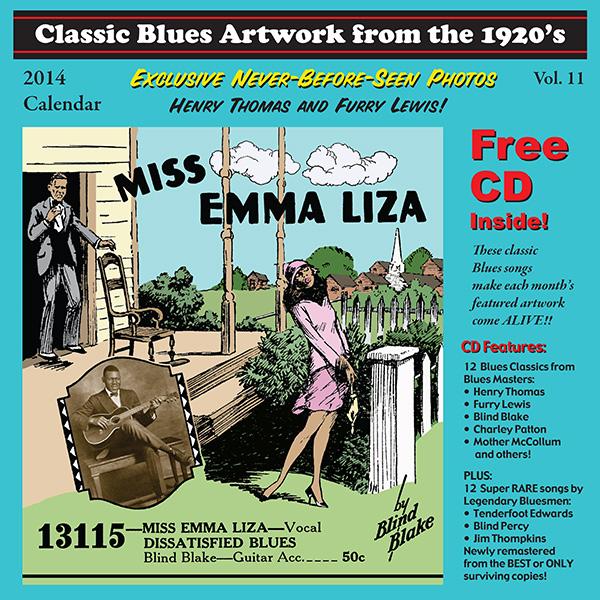 Tefteller 2012 Blues Calendar front cover